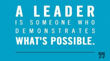 Leadership: A leader is someone who