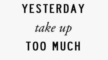 Perspective: Don't let yesterday