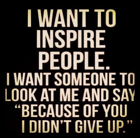 Perseverance: I want to inspire people